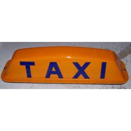 Universal taxi cab top light  regular or LED lighting  Magnetic or