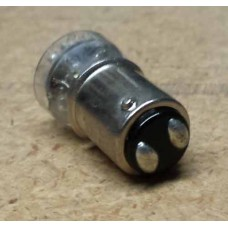 Bayonet Base LED replacement for two-tip toplight light bulbs.