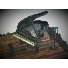 Art; Grand Piano and Microphone