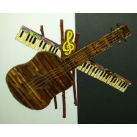 Art: Guitar and Piano Plaque