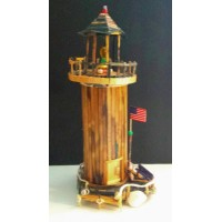 Art; Mastazula Light - Lighthouse on Stone Base