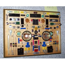 Art; Rectangular Electronic Parts Plaque