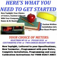 "New Taxi  ""Start-Up Kit""  includes new Meter, Toplight  & Instructions!"